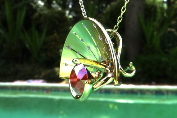 Side view of parabolic pendant