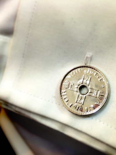 Custom 50 Ore Coin Cuff Links was a simple repurposing project.
