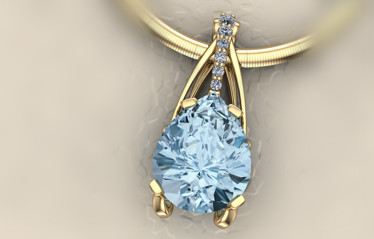 Buchkosky jewelers custom pendants blue topaz pendant mozeypictures Image collections
