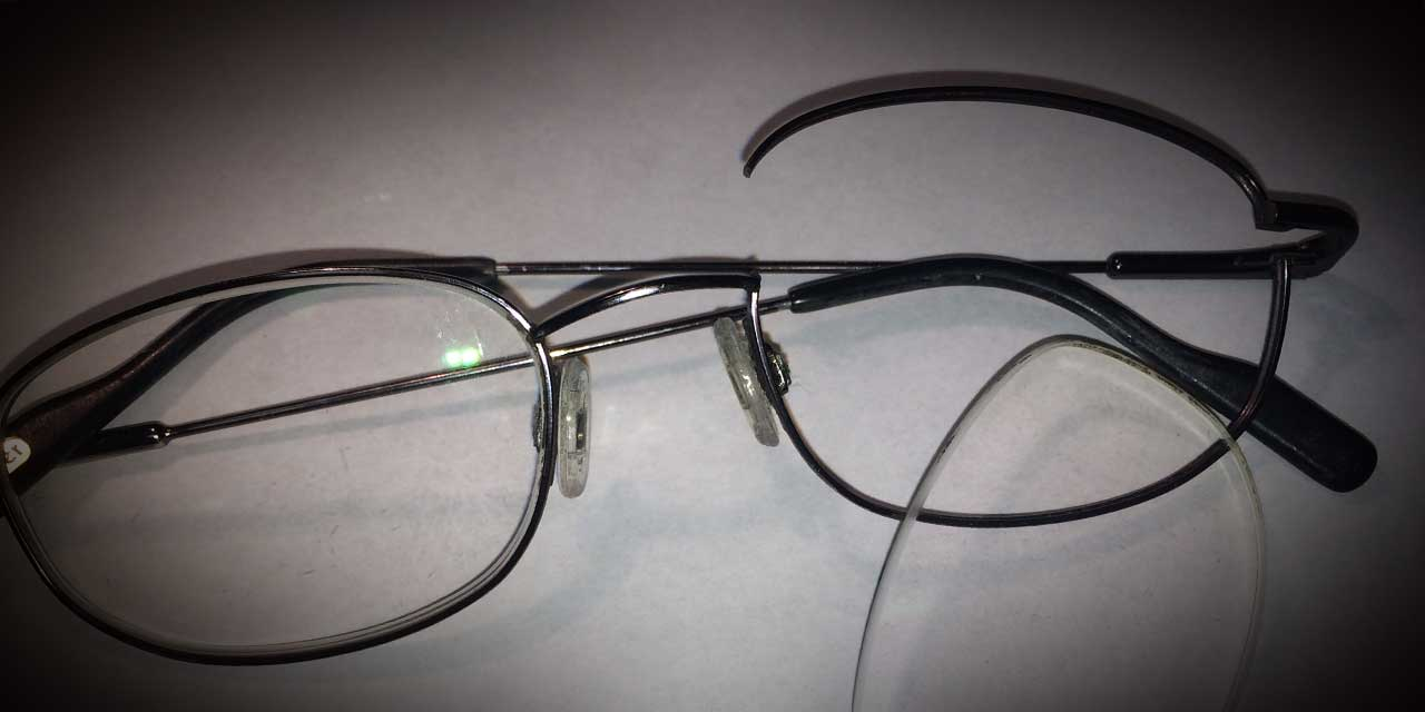 eyeglass frame broken nose wire repair crimp on butt ...