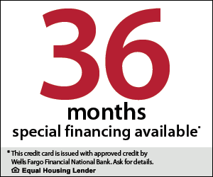 Find out more about our special financing offers.